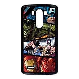 Marvel Comic Funda LG G3 Funda del teléfono celular Caso Negro Q3K1MH3B único claros casos de teléfono