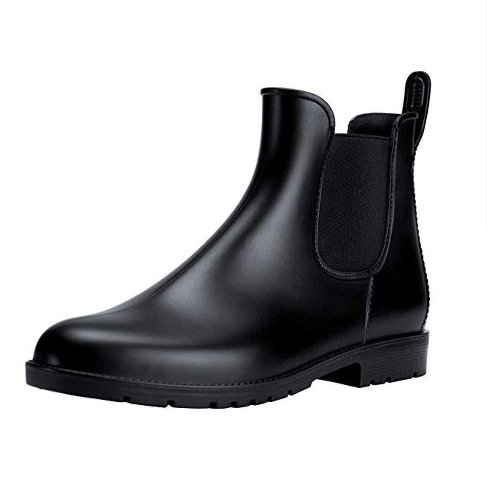 Women's Short Rain Boots Anti Slip Waterproof Slip On Ankel Chelsea Booties B37