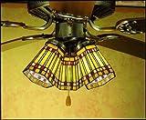 4 Inch W Prairie Corn Fan Light Shade Ceiling Fixture