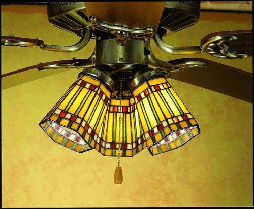 Light Chandelier Wheat 4 (4 Inch W Prairie Corn Fan Light Shade Ceiling Fixture)
