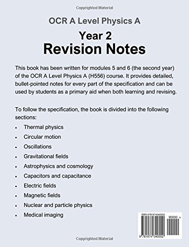 modules 5 and 6 2nd year revision notes ocr a level physics h556