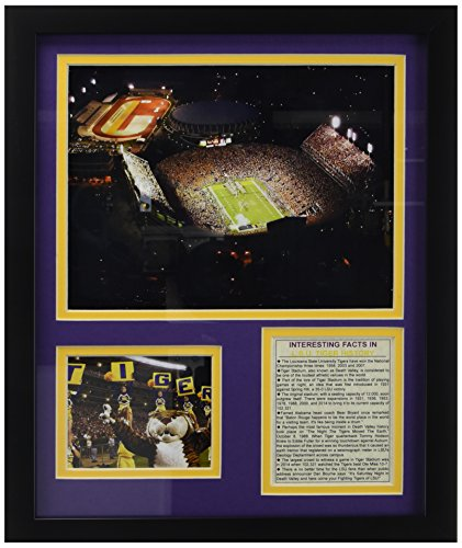 Legends Never Die Louisiana State Tigers Tiger Stadium Framed Photo Collage, 11 by 14-Inch ()