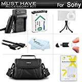 Must Have Accessory Kit For Sony Cyber-shot DSC-RX100 IV, HX400V/B, DSC-HX300 Digital Camera Includes Extended Replacement NP-BX1 Battery + Ac/Dc Charger + Micro HDMI Cable + Case + More!