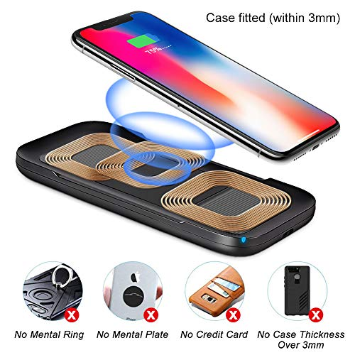 another chance e8e58 46f0a ARINO Wireless Phone Charger Qi Fast Wireless Charging Pad Portable  Anti-Slip 10W 7.5W 5W Compatible for iPhone X/8/8 Plus Samsung Galaxy S9/S9  ...