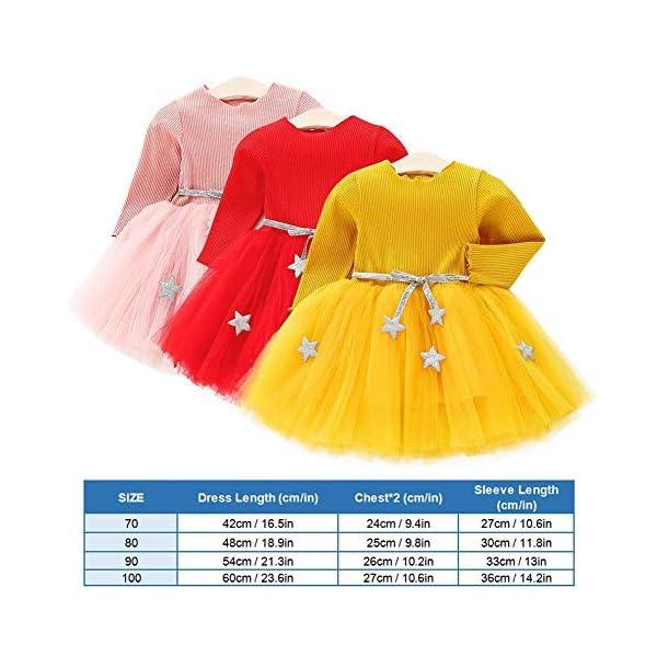 Tutu in maglia a maniche lunghe per neonato Abito in tulle con principessa infantile e gonna in misto cotone per bambini… 2