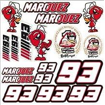 MotoGP Driver MARQUEZ 93 Ant Car Sticker Decals for Bike Car Motor Helmet etc Sticker Sheet XXL Decal Sticker ( non Heat resistant )