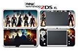 Justice League Batman Wonder Woman Superman Video Game Vinyl Decal Skin Sticker Cover for Nintendo New 2DS XL System Console