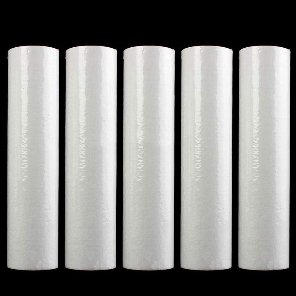 1 Micron Declan Hutchinson 5Pcs Replacement Water Sediment Filters 2.5 x 10 Cartridges