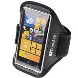 SumacLife Workout Running Armband for Nokia Lumia 1020 Nokia Lumia 920 Nokia Lumia 925 (AT&T ; Sprint ; T-Mobile) (0-Black)