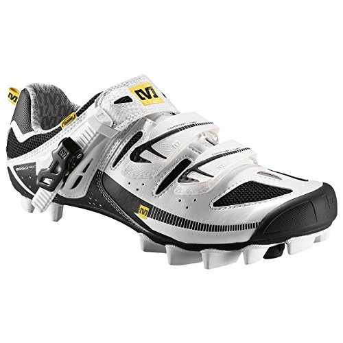 Mavic Scorpio Cycling Shoes (White/Black/Mavic Yellow, 6....