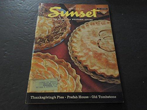 Sunset Mag Of Western Living Nov 1965, Thanksgiving Pies, Prefab Houses -