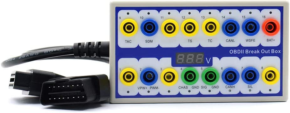 OBD 2 Protocol Detector /& Break Out Box Car CAN Test Box Fault Diagnosis Scan Tool Diagbox