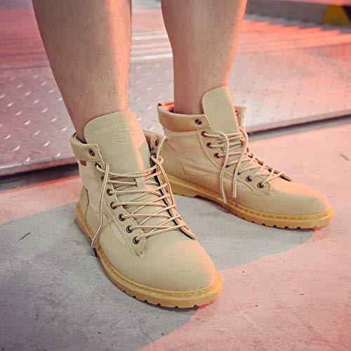 De Noël Binggong Unie Rond Beige Boots Bottes Bottines Couleur Lacets Bout À Chaussures Classiques Femme Sport Dames Chaussures Flattie wpqFSBC