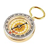 Ezyoutdoor Magnetic navigation Baseplate Compass Infravision Multifunction Military Brass Army Metal Sighting High Accuracy Waterproof Camping Emergency for Hiking Camping Night Fishing 50X13MM