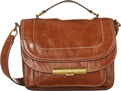 Crossbody Milk Chocolate Athene Calvin Washed Klein Leather Large Wendy Womens 8n0qU