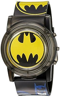 DC Comics Batman Kids' BAT6000SR Digital Display Analog Quartz Black Watch from Batman (from Accutime)