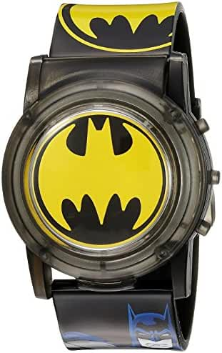 DC Comics Batman Kids' BAT6000SR Digital Display Analog Quartz Black Watch