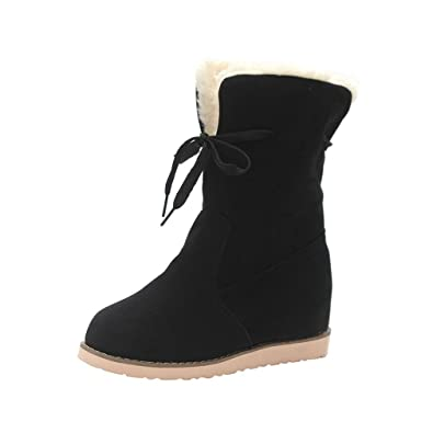 Ladies New Fashion Low Wedge Biker Ankle Trim Flat Ankle Warm Martin Boots Shoes