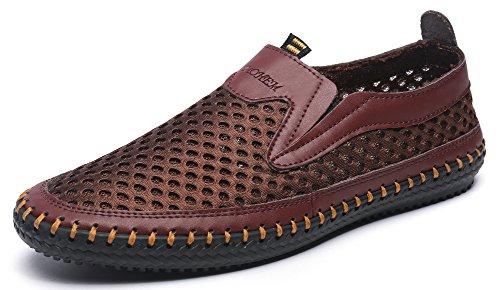 Mohem Men's Poseidon Slip-On Loafers Walking Shoes Casual Sandal Fashion Sneakers(3177coffee38)