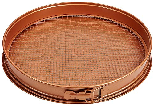 - TRISTAR PRODUCTS CCPP-12 3 Piece Copper Chef pizza/crisper pan,