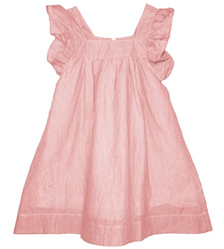 ContiKids Girls' Frill Sleeve Fly Dress 5 Pink - Frill Sleeve Dress