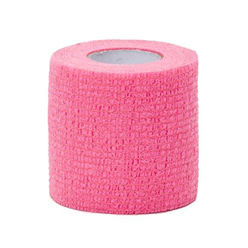 Healit Medical SelfGrip Self-Adhering Compression Bandage, Pink, 2 Inch ()