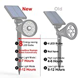 Aootek New Upgraded 3rd Generation Motion Sensor Solar Spotlight 8 LED Adjustable 3-in-1 Auto on/Off Waterproof Outdoor Landscape Lighting Security