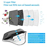 UBRU 3 Sets Sports Masks with 5-Layers Activated