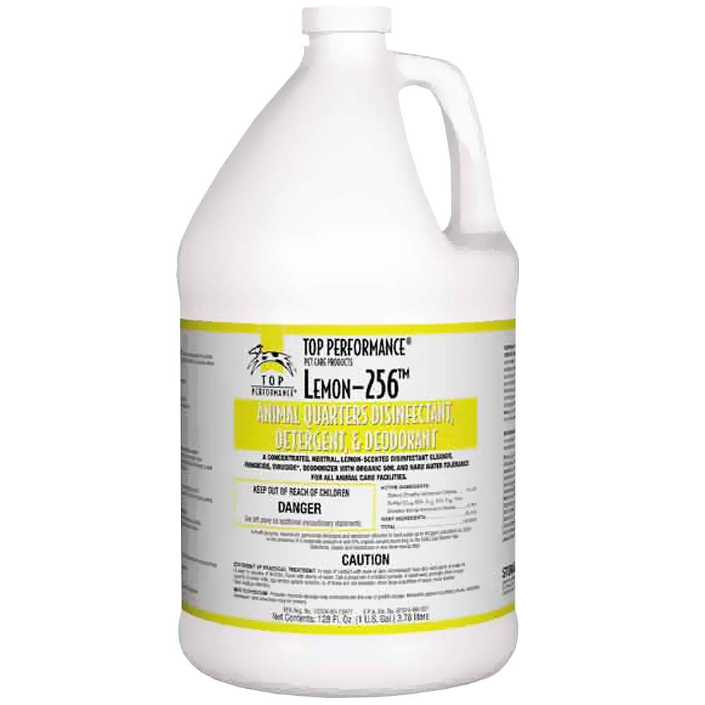 Top Performance 256 Disinfectant and Deodorizer, Lemon, 1-Gallon