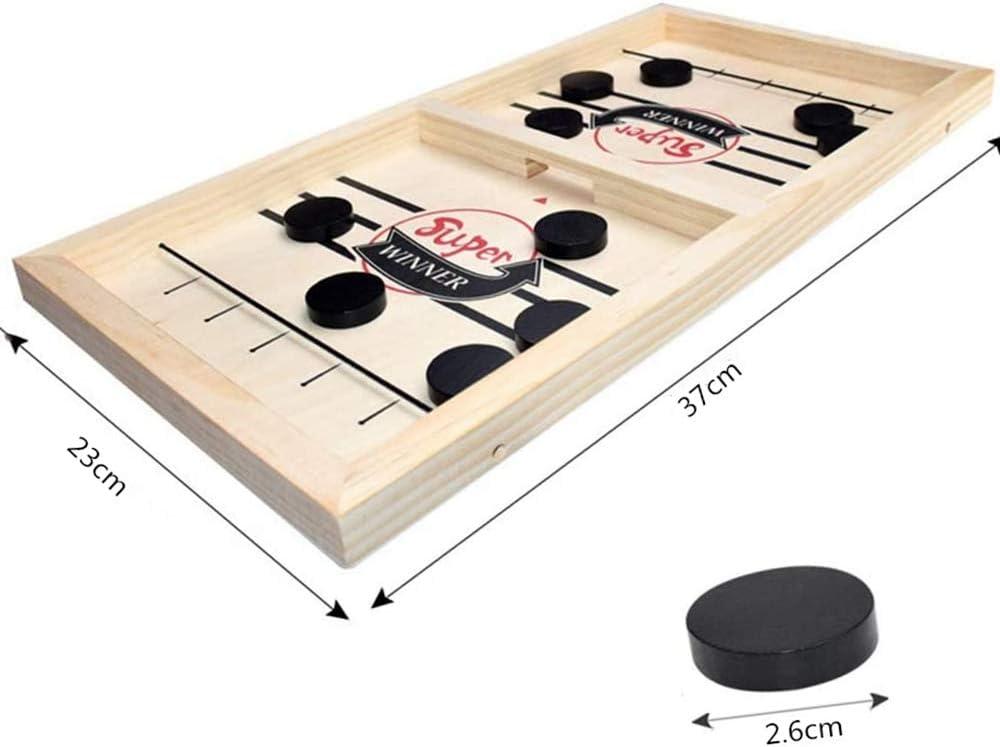 Juego De Hockey De Mesa para 2 Jugadores, Juego De Mesa De FúTbol Y Hockey 2 En 1, Juego De Mesa Divertido para Toda La Familia.: Amazon.es: Juguetes y juegos