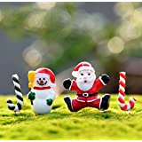 URToys 40Pcs/set Resin Mini Santa Claus Snowman Christmas Decoration Miniature Figurine Fairy Garden Ornament Mini Resin Crafts Kids Diy Accessories
