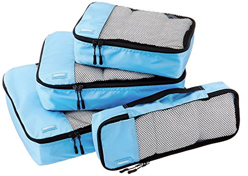 amazonbasics-4-piece-packing-cube-set-small-medium-large-and-slim-sky-blue