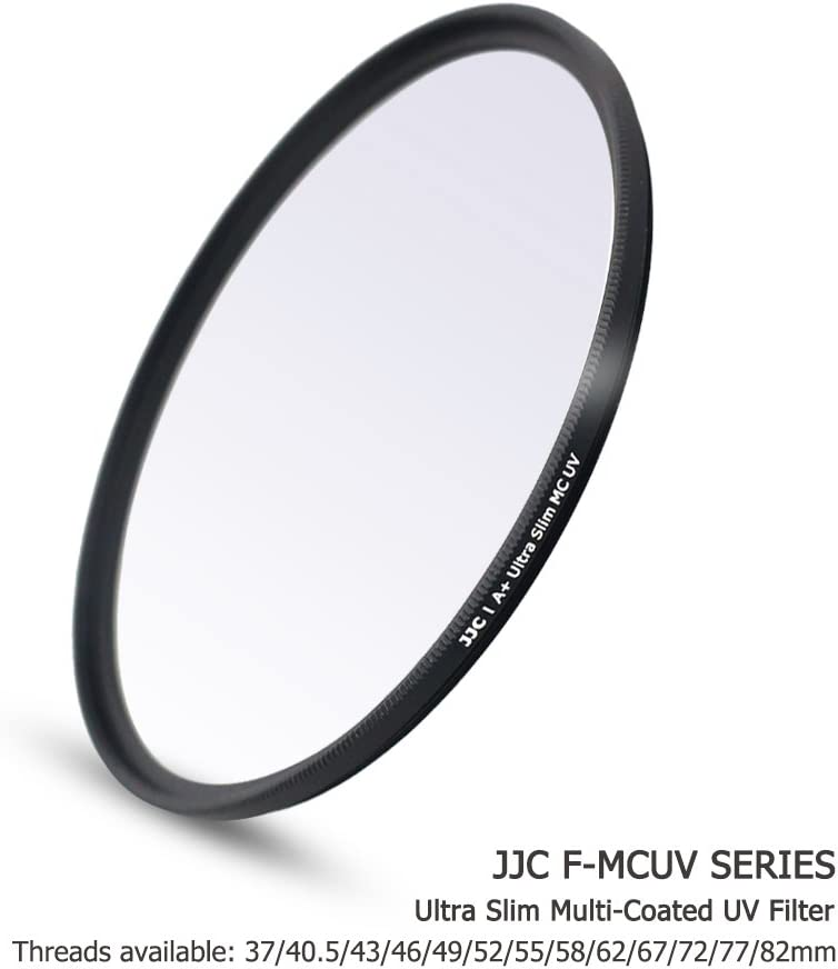 JJC Multi-Coated 58mm UV Filter for Canon EOS Rebel T7 T6 T8i T7i T6s T6i SL3 SL2 with EF-S 18-55mm Kit Lens,Fujifilm X-T30 X-T20 with XF 18-55mm Kit Lens,Panasonic G9 G85 GH5 with 12-60mm Kit Lens