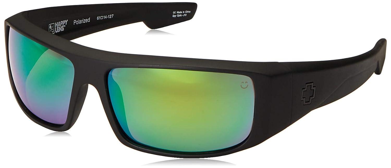 5dc15ba4dedf4 Amazon.com  Spy Optic Logan Sunglasses with Happy Lens and Trident  Polarization