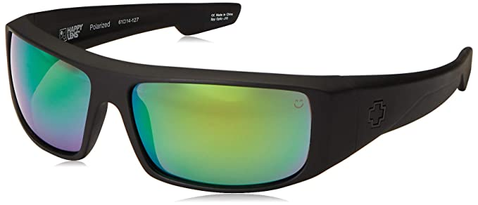 02887f9e725a Amazon.com  Spy Optic Logan Sunglasses with Happy Lens and Trident ...
