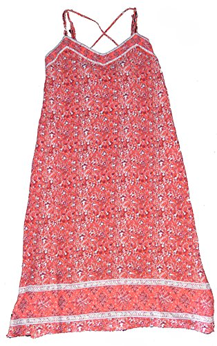 GAP Womens Red Floral Print Double Strap Border Sun Summer Dress XS