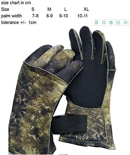 MYLEDI 3mm Camo Wetsuit Gloves Neoprene Durable and Flexible Scuba Diving and Spearfishing Wetsuit Gloves