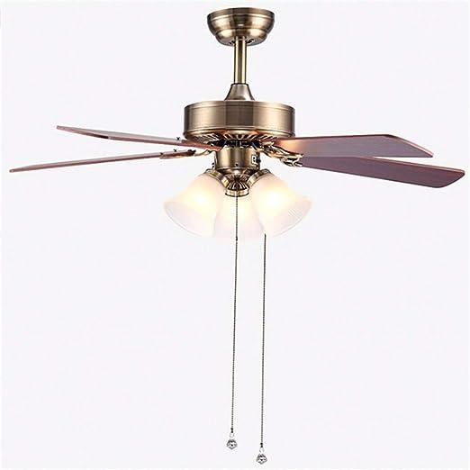 LIXDD Lámpara de Techo para Ventilador de Techo de Perfil bajo de la Industria, Hierro de