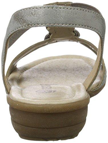 Remonte R3638, Sandalias con Cuña para Mujer Gris (Grey/90)