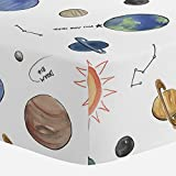 Carousel Designs Solar System Crib Sheet - Organic 100% Cotton Fitted Crib Sheet - Made in The USA