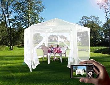 HEXAGONAL 2 x2m Quictent diseño cilíndrico Garden Gazebo Tienda de campaña de fiesta boda blanco: Amazon.es: Jardín