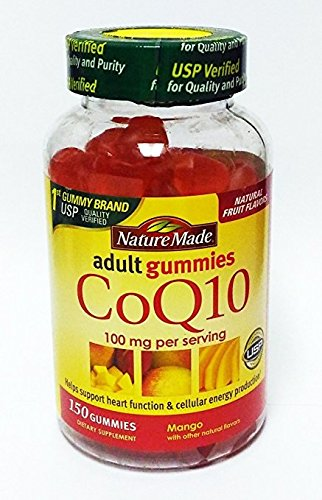 海外直送品 Nature Made CoQ10 Adult Gummies, Mango wtih natural flavors 150 gummies B07D46SJ5B
