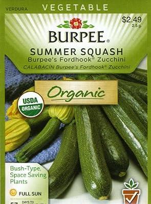 Burpee 60565 Organic Squash, Summer Burpee Fordhook Zucchini Seed Packet