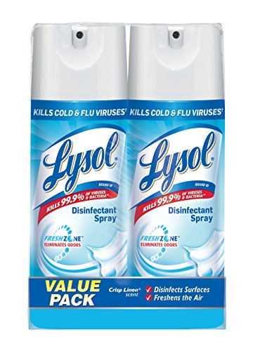 Lysol Disinfectant Spray Crisp Linen, 25oz (2X12.5oz)