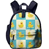 Funny Rubber Duck Oxford Bookbags School Backpack Classic Schoolbag For Children Kids