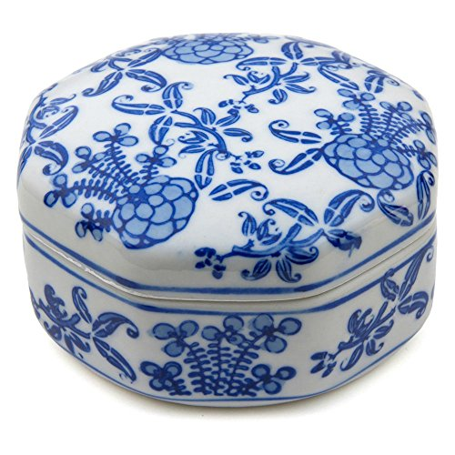 Oriental-Furniture-4-in-Floral-Small-Porcelain-Jewelry-Box-Blue-White