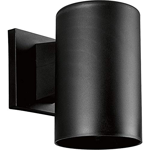 (Progress Lighting P5712-31 5-Inch Non-Metallic Cylinder with Only Non-Corrosive Hardware Components Used and UL Listed for Wet Locations, Black)