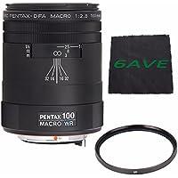 Pentax smc Pentax-D FA 100mm f/2.8 WR Macro Lens + UV Filter + MicroFiber Cloth 6AVE Bundle