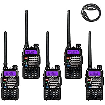 BaoFeng Pack UV-5R  Plus UHF VHF Dual-Band Two Way Radio Programming Cable  Support Win7  Win10