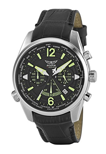 Aviators Watch by Aviator F-Series Mens Military Pilot Quartz Luminous Waterproof Chronograph - Aviator Watch Mens